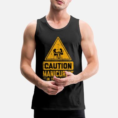 Career CAUTION Manicurist In The Making - Men's Premium Tank Top