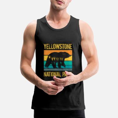 Californien Yellowstone National Park vintage bjørn - Premium tanktop mænd
