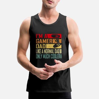 Gamer Gamer Dad Funny Gift for Fathers Cool Vintage Dad ' - Premium tank top męski