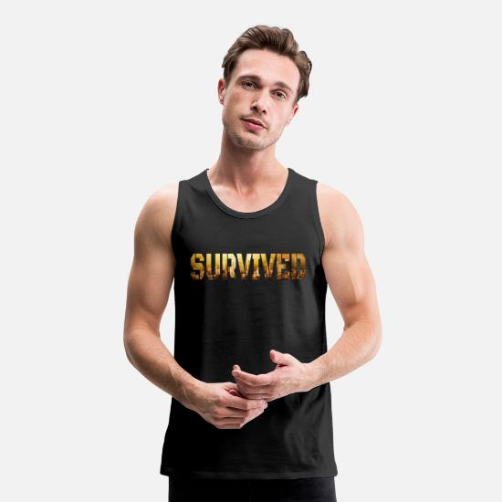 Game Tank Tops - survived - Men's Premium Tank Top black