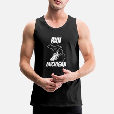 Michigan Tees Laufendes Design Run Michigan Runners Produkt - Männer Premium Tanktop