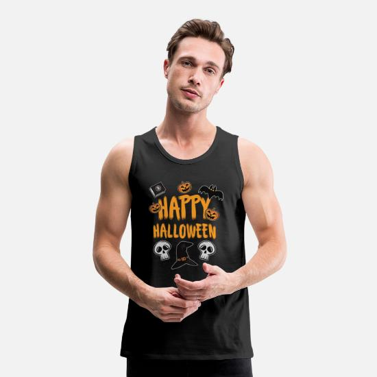 Bat Tank Tops - Happy Halloween - Men's Premium Tank Top black