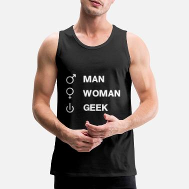 Geek Geek On GEEK humor geek joke - Men's Premium Tank Top