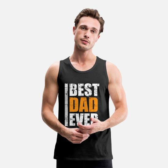 Birthday Tank Tops - Best father, best dad - Men's Premium Tank Top black