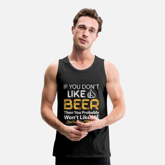 Tasty Tank Tops - BEER - Men's Premium Tank Top black