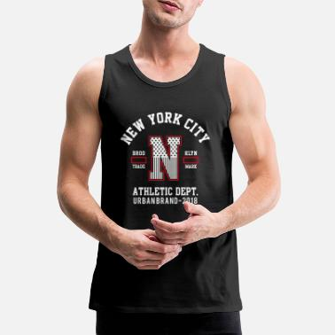 New York Athletic USA - USA T-shirt - Premiumtanktopp herr