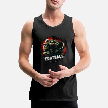 Graphic Art Cool Football Season Red Art Graphic Jeugdhelm - Mannen Premium tank top