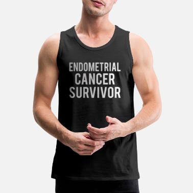 Endometrial Cancer Poison Endometrial Cancer: Endometrial Cancer Survivor - Men's Premium Tank Top