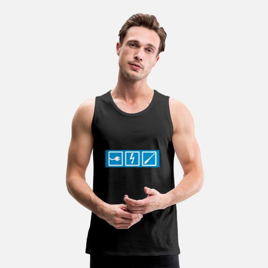 Electrician Tank Tops - electrician, professions, electrician occupation, electrician - Men's Premium Tank Top black
