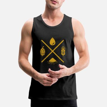 Yeast Water barley hops and yeast gift - Men's Premium Tank Top