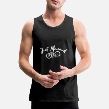 Wedding Bachelorette Party Wedding Just Married Tribal - Premium tanktop mænd