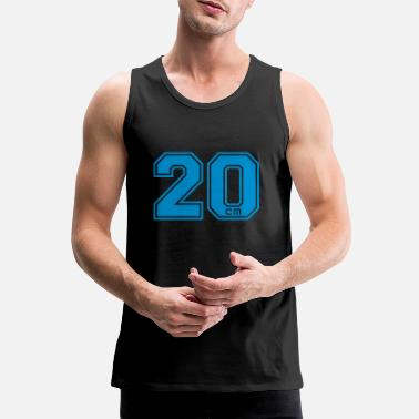 Satire 20 centimeter - Mannen premium tank top