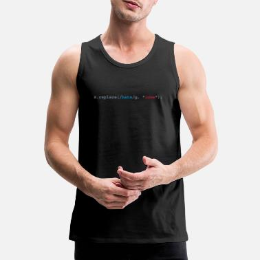Citaten replace hate with love - Mannen premium tank top