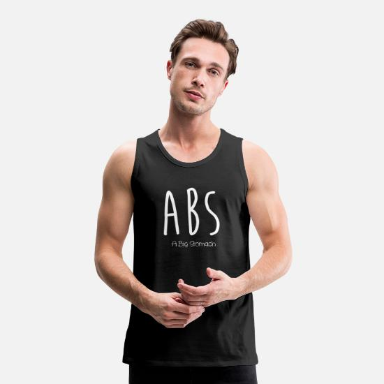 Abs Tank Tops - Funny abs - Men's Premium Tank Top black