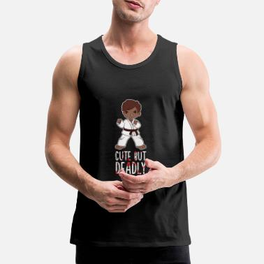Kung Fu Karate Boy Martial Arts Cute But Deadly Taekwondo - Men's Premium Tank Top