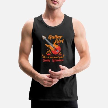 Guitar Player Guitar girl - Men's Premium Tank Top