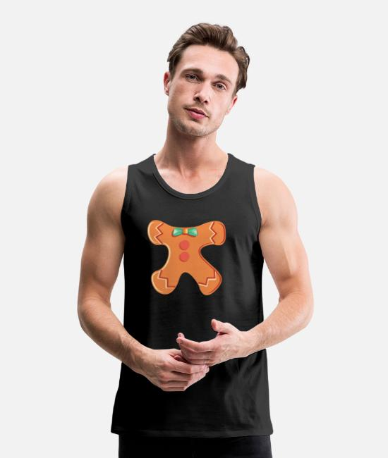 Christmas Tank Tops - Christmas biscuit gingerbread man costume gift - Men's Premium Tank Top black