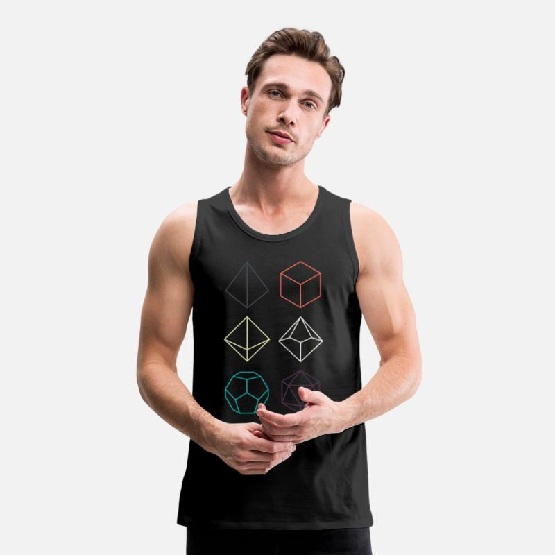 Dungeons And Dragons Tank Tops - Minimal dnd (dungeons and dragons) dice - Men's Premium Tank Top black