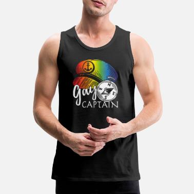 Captain Gay captain - Men's Premium Tank Top