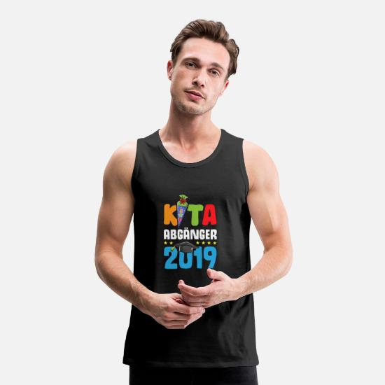Kindergarten Tank Tops - KITA graduate 2019 school bag boys girls - Men's Premium Tank Top black