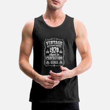 Established 1978 Vintage 40th Birthday gift 40 years old - Men's Premium Tank Top