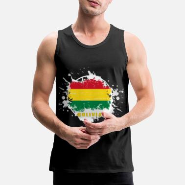Souvenir bolivia flag with blob - Men's Premium Tank Top