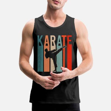 Karate Karate Vintage Martial Arts Japan Martial Arts Fighter - Premium tank top męski