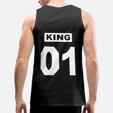 King 01 Queen 02 Partner Look Couples Couples - Men's Premium Tank Top