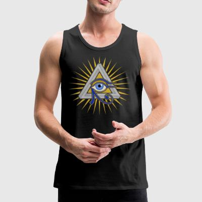 Eye and Triangle - Men's Premium Tank Top