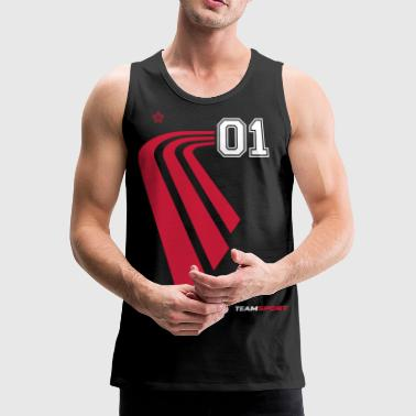 TRIKOT 01 - Sports Numbers Gift Jerseys Shirts - Mannen Premium tank top