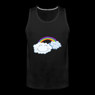 Lucky Day - Clouds With Rainbow - Comic - Tank top męski Premium