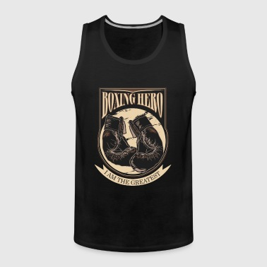 Boxing Hero - The Greatest - On Dark - Men's Premium Tank Top