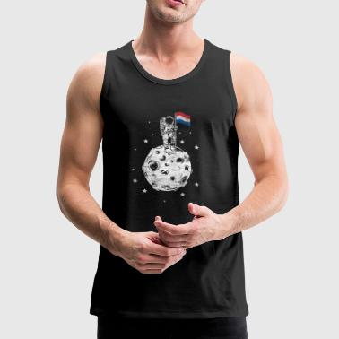 The Netherlands flag on the moon Gift - Men's Premium Tank Top