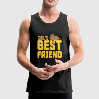 Girl's beste vriend Mouse Animal Gift - Mannen Premium tank top
