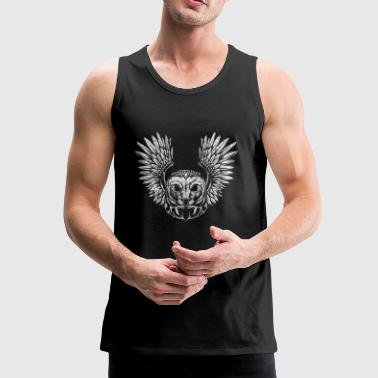 Owl owl gift bird bird of prey Spiritual Indian - Men's Premium Tank Top
