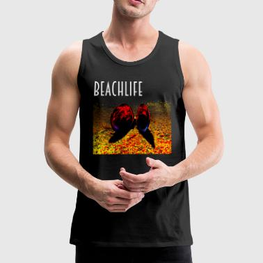 Beachlife Muschel Party am Strand - Männer Premium Tank Top