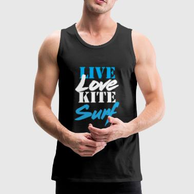 Live Love Kitesurf t-shirt - Men's Premium Tank Top