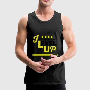 I Level Up Consoles and PC Gamer Birthday Shirt - Men's Premium Tank Top
