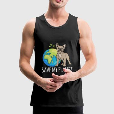 Fransk Bulldog Earth Day Gift Umwel - Premium singlet for menn