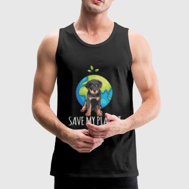Rottweiler dog Earth Day gift environment - Men's Premium Tank Top