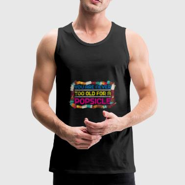 Popsicle summer gift holiday sun soft ice cream - Men's Premium Tank Top