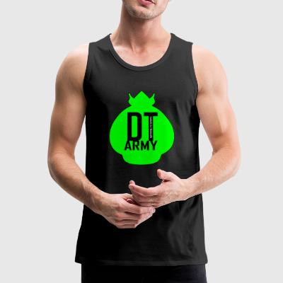 DT ARMY GREEN - Tank top męski Premium