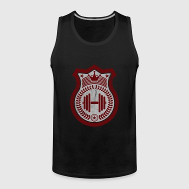 Fitness dumbbell weights star gift idea - Men's Premium Tank Top
