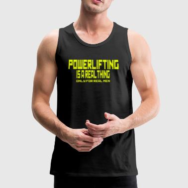 REAL THING YELLOW - Men's Premium Tank Top