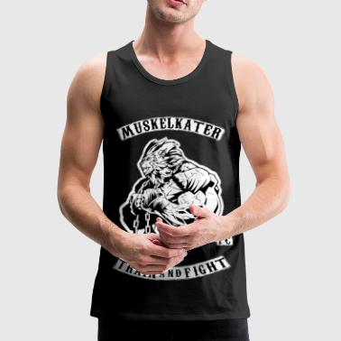 Muskelkater Fight Club - Train And Fight - Männer Premium Tank Top
