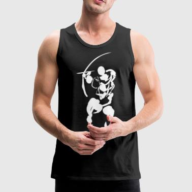 Path of the bow (white) - Men's Premium Tank Top