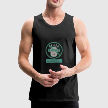 Blue moron prohibited - Men's Premium Tank Top