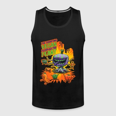 The Terrifying Vegan Flesh Eating Plant - Mannen Premium tank top
