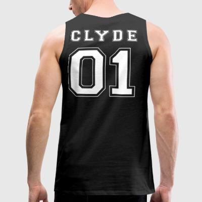 CLYDE 01 White Edition - Herre Premium tanktop