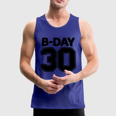 30th birthday number numbers jersey number - Men's Premium Tank Top